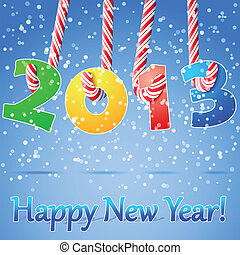 2013, heureux, nouveau, année, fond
