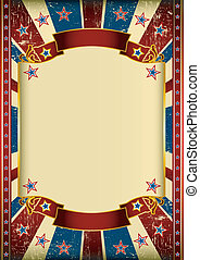 US grunge frame - Dirty american background with a large...