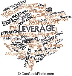 Leverage - Abstract word cloud for Leverage with related...