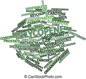 Lycopene - Abstract word cloud for Lycopene with related...