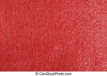 Felt Background - Macro of red felt fabric for background...
