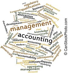 Management accounting - Abstract word cloud for Management...
