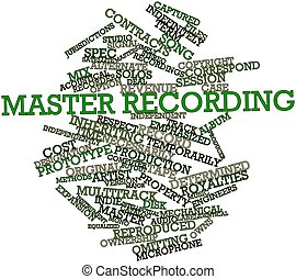 Word cloud for Master recording - Abstract word cloud for...