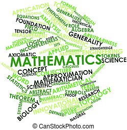 Mathematics - Abstract word cloud for Mathematics with...