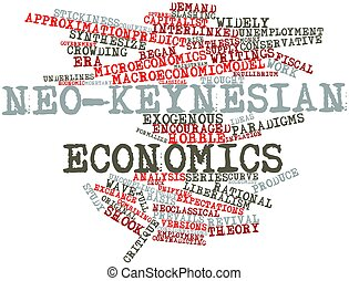 Neo-Keynesian economics - Abstract word cloud for...