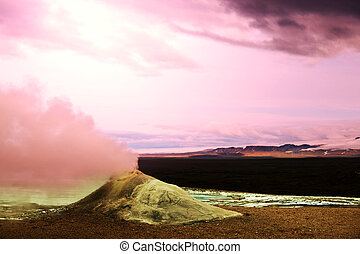 Fumarole in Iceland