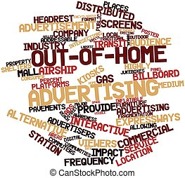 Out-of-home advertising - Abstract word cloud for...