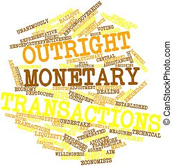 Outright Monetary Transactions - Abstract word cloud for...