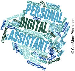 Personal digital assistant - Abstract word cloud for...