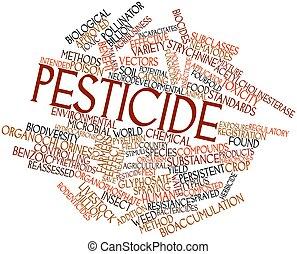 palabra, nube, pesticida