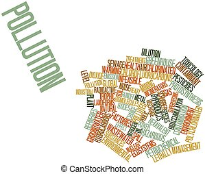Pollution - Abstract word cloud for Pollution with related...