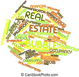 Word cloud for Real estate bubble - Abstract word cloud for...
