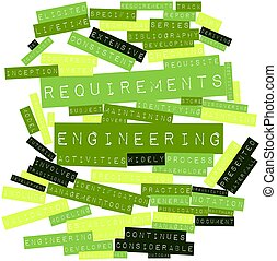 Requirements engineering - Abstract word cloud for...