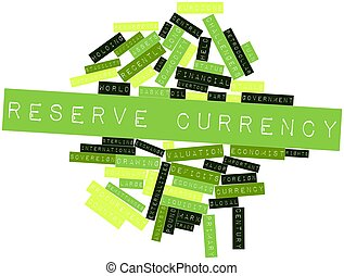 Word cloud for Reserve currency - Abstract word cloud for...