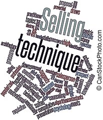 Selling technique - Abstract word cloud for Selling...