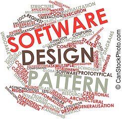 Software design pattern - Abstract word cloud for Software...