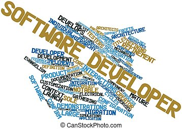 Word cloud for Software developer - Abstract word cloud for...