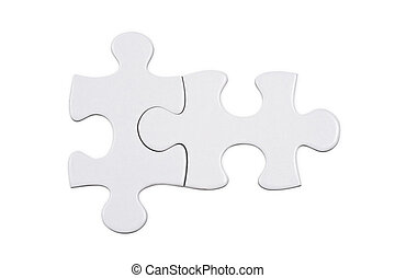 puzzle piece - Jigsaw puzzle piece on white background, high...