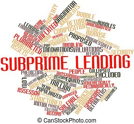 Subprime lending - Abstract word cloud for Subprime lending...