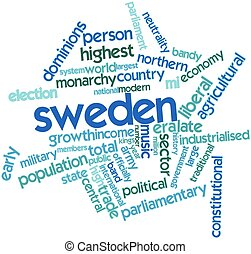 Sweden - Abstract word cloud for Sweden with related tags...