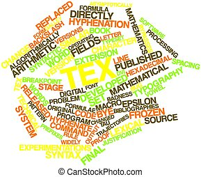 TeX - Abstract word cloud for TeX with related tags and...