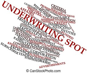 Word cloud for Underwriting spot - Abstract word cloud for...