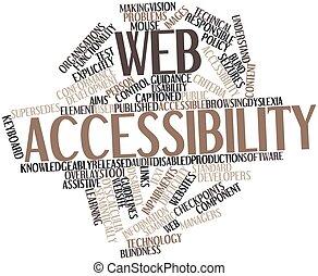palabra, nube, tela, accesibilidad
