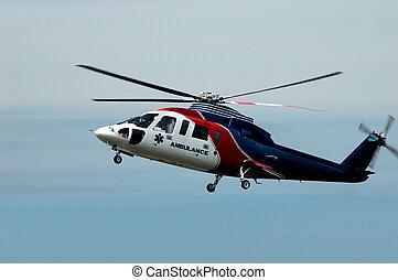 Aire, ambulancia, helicóptero