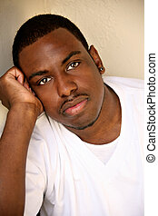 African American Male Youth Portrait - African American Male...