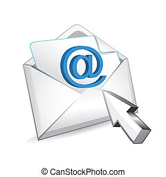 vector mail with cursor
