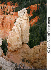 Great spires carved away by erosion in Bryce Canyon National Park, Utah, USA.