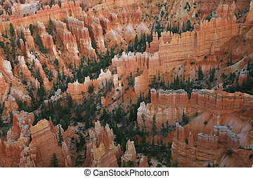 Great spires carved away by erosion in Bryce Canyon National...