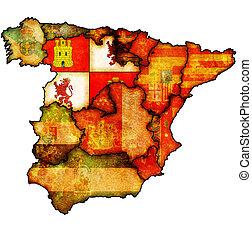 region of castilla and leon - castilla and leon region on...