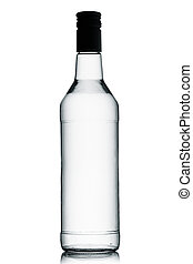 Vodka - A bottle of vodka on a white background