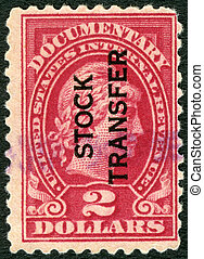 USA - 1914: A documentary stamp shows Liberty - UNITED...