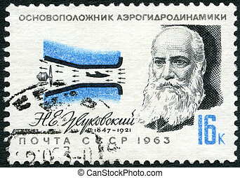 USSR - CIRCA 1963: A stamp printed in USSR shows N.E....