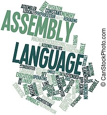 Assembly language - Abstract word cloud for Assembly...