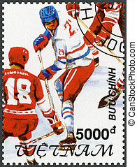 VIETNAM - 1991: shows Hockey, 1992 Winter Olympics,...