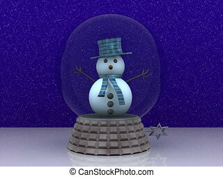 Carillon with cute Snowman greets - 3D