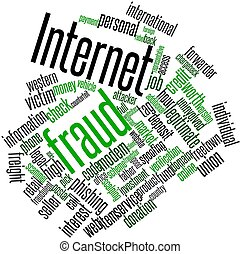 Word cloud for Internet fraud - Abstract word cloud for...