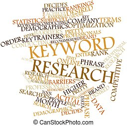 Keyword research - Abstract word cloud for Keyword research...