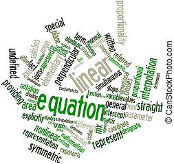 Word cloud for Linear equation - Abstract word cloud for...