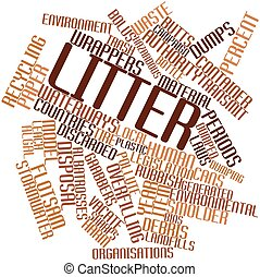 Litter - Abstract word cloud for Litter with related tags...