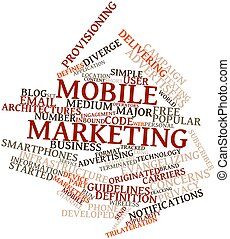 Word cloud for Mobile marketing - Abstract word cloud for...