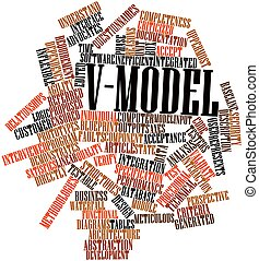 V-Model - Abstract word cloud for V-Model with related tags...