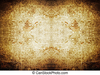 Spotlight grunge background with scratches - Brown spotlight...