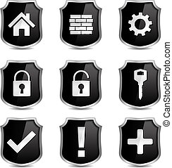 Security Icons - Set of security icons, vector eps10...
