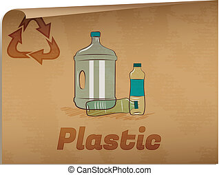 Recycling plastic memo