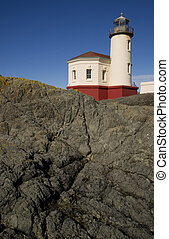 Rocky Lighthouse - West Coast Lighthouse on a rocky jetty