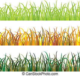 seamless pattern Grass - set of seamless pattern Grass
